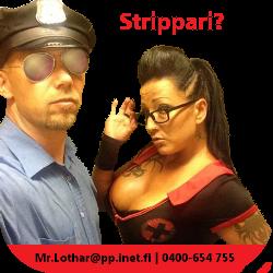 strippari polttareihin pilluu